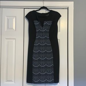 Black dress with detailed front